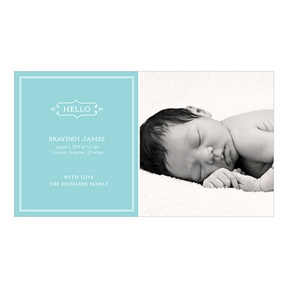 Elegant Greeting Boy -- Birth Announcements