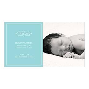 Elegant Greeting Boy -- Birth Announcements