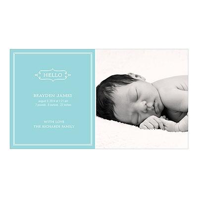 Elegant Greeting Boy Birth Announcements