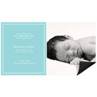 Elegant Greeting Boy Magnet Birth Announcements