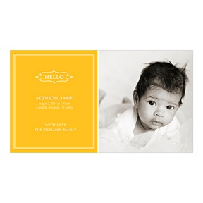 Elegant Greeting For A Girl -- Birth Announcements