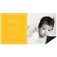 Elegant Greeting Girl Magnet Birth Announcements