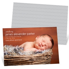 Simply Stated Boy -- Birth Announcements