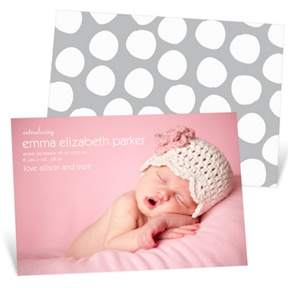 Simply Stated Girl -- Birth Announcements