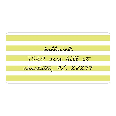 Striped and Scripted Baby Address Labels
