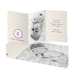 Photo Swirled Monogram -- Chic Baby Announcements