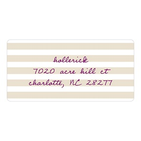 Striped and Scripted -- Baby Address Labels