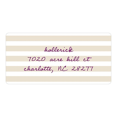 Striped and Scripted -- Address Labels