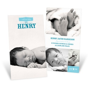 Welcome Baby Boy -- Birth Announcements