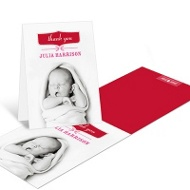 Welcome Girl Baby Thank You Cards