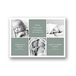 Photo Blocks Collage -- Multiples Birth Announcements