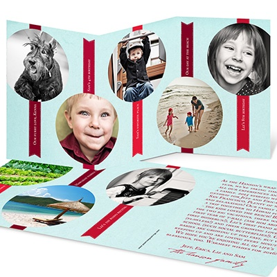 Tabbed Storyline Holiday Photo Cards
