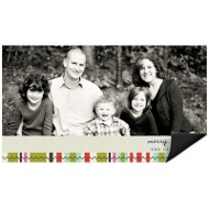 Photo Blocks and Stripes Magnet Christmas Cards