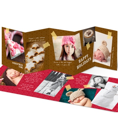 Taped Up Memories -- Unique Christmas Photo Cards