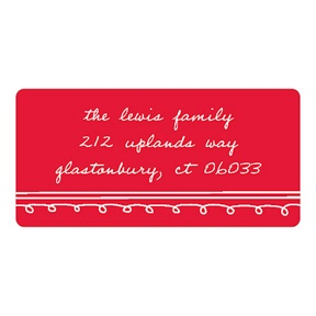 Simply Sketched -- Christmas Address Labels
