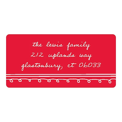 Simply Sketched Christmas Address Labels