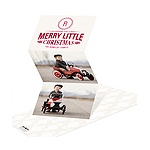 Merry Little Monogram -- Trifold Photo Christmas Cards