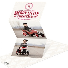 Merry Little Monogram -- Christmas Cards