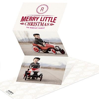 Merry Little Monogram Photo Christmas Cards