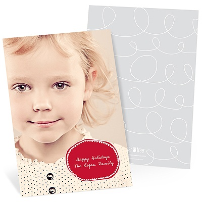 Squiggles, Sketches and Scallops Photo Christmas Cards