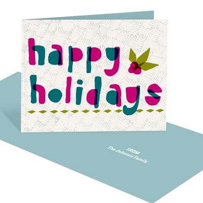 Happy Holly -- Custom Holiday Cards