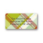 Trendy Plaid -- Christmas Return Address Labels