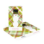 Snowman Playing in Plaid -- Holiday Thank You Notes
