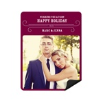 Classy Wishes -- Christmas Photo Magnets