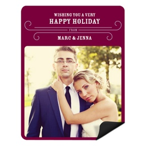 Classy Wishes Magnet -- Christmas Cards
