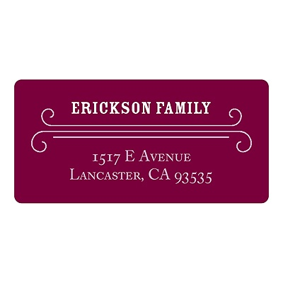 Classic Borders -- Personalized Holiday Return Address Labels