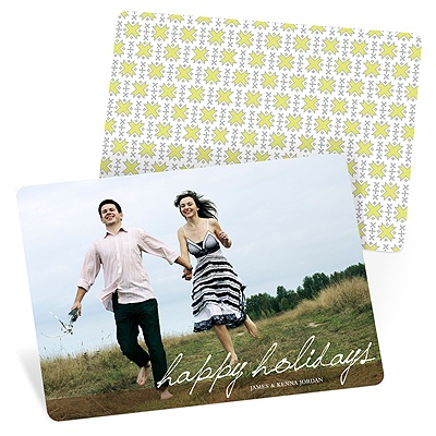 Simple Script Photo Christmas Cards