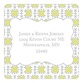 Imaginative Pattern -- Christmas Address Labels