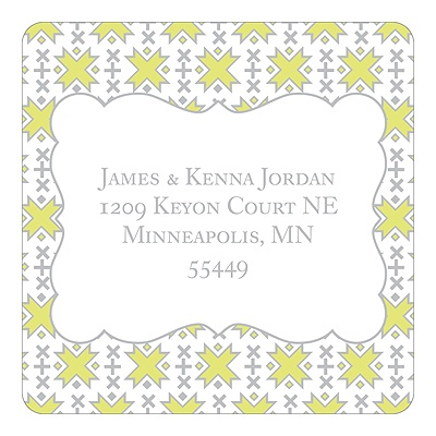 Imaginative Pattern Christmas Address Labels