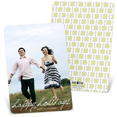 Simple Script Vertical Photo -- Vertical Holiday Photo Cards