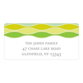 Trendy Twining in Green -- Printed Address Labels