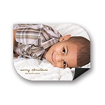 Merry Magnet Display -- Photo Holiday Greeting Cards