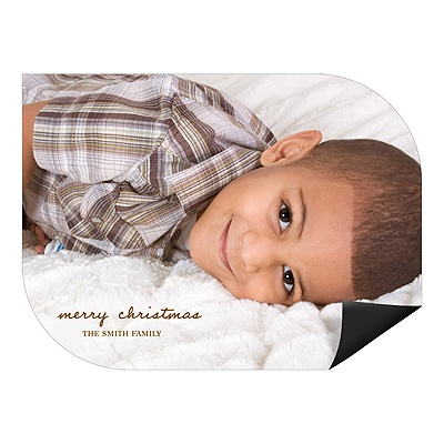 Merry Magnet Display Photo Christmas Cards