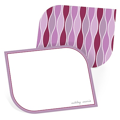 Trendy Twining in Purple Personalized Stationery