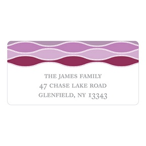 Trendy Twining in Purple -- Personalized Address Labels