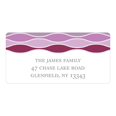 Trendy Twining in Purple Personalized Address Labels