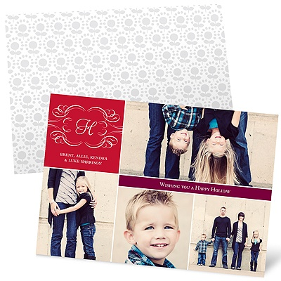 Elegant Collage Holiday Photo Cards