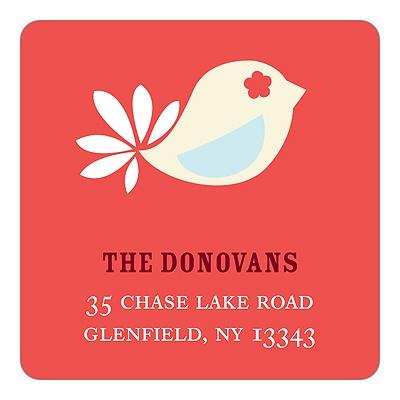 Classic Dove Christmas Address Labels