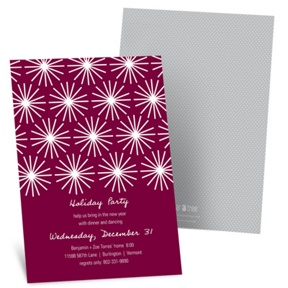 Flashing Lights -- Holiday Party Invitations