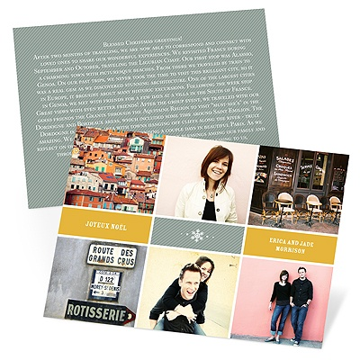 Travels And Memories Holiday Photo Cards