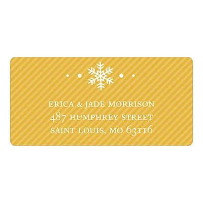 Single Snowflake Christmas Address Labels