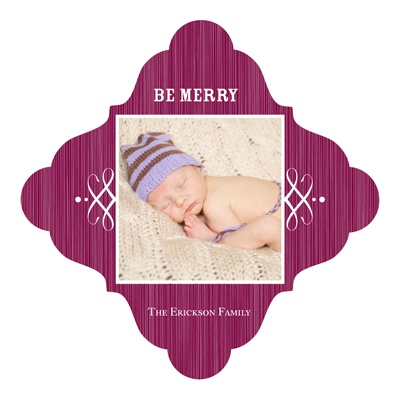 Swirling and Stylish Magnet Holiday Photo Cards