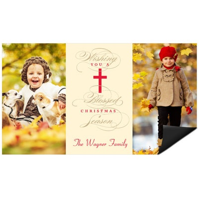 Blessed Wishes Magnet Religious Christmas Cards