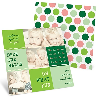 Singing Deck the Halls -- Photo Collage Christmas Cards