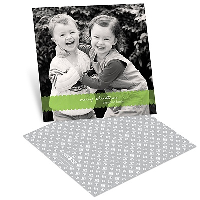 Scalloped Banner -- Holiday Photo Cards