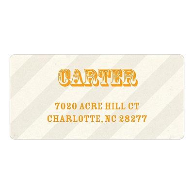 Subtle Stripes Birthday Address Labels